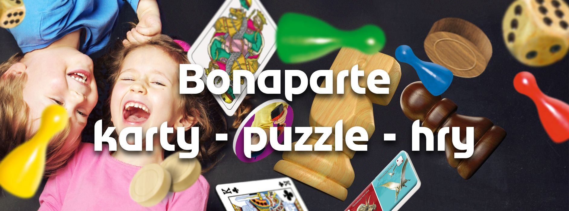 banner Bonaparte karty puzzle hry